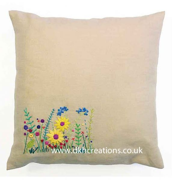 Meadow Sweet Secret Garden Embroidery Cushion Kit